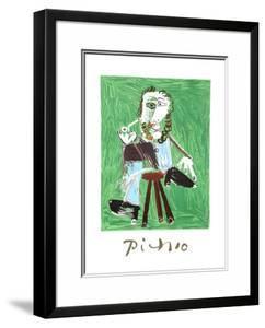 Homme A La Pipe Assise Sur Un Tabouret by Pablo Picasso