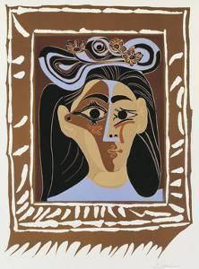 Jacqueline au Chapeau a Fleurs by Pablo Picasso