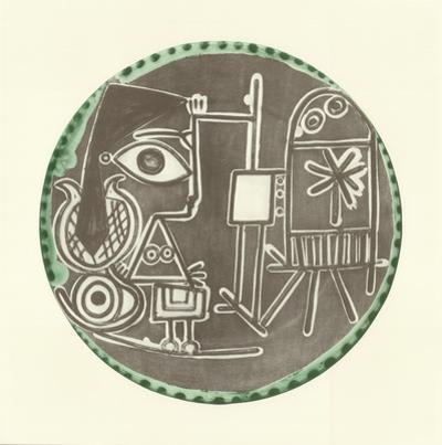 Jacqueline au Chevalet by Pablo Picasso