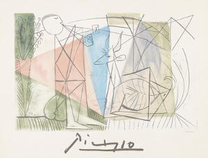Joueue de Flute et Gazelle by Pablo Picasso