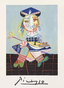 La Fille de L`artiste a Deux Ans Et Demi Avec Un Bateau by Pablo Picasso