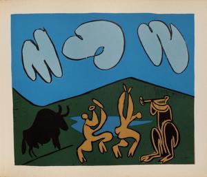 LC - Bacchanale au taureau noir by Pablo Picasso