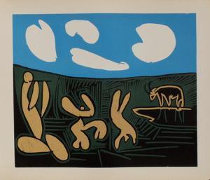 LC - Bacchanale au taureau by Pablo Picasso