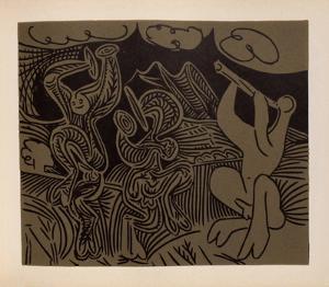LC - Danseurs et musicien by Pablo Picasso