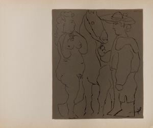 LC - Picador femme et cheval by Pablo Picasso