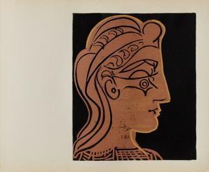 LC - Tête de femme de profil by Pablo Picasso