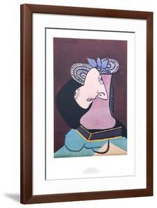 Le Chapeau de Paille au Feuilage Bleu by Pablo Picasso