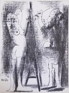 Le Peintre et son modele by Pablo Picasso