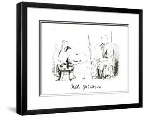 Le Pientre et Son Modele by Pablo Picasso