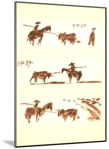 Man on Horse vs Bull (1) by Pablo Picasso