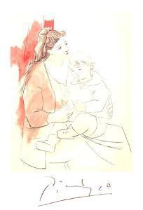 Maternite au Rideau Rouge by Pablo Picasso