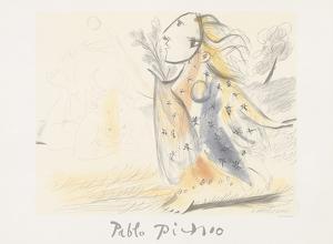 Minotaure et Femme by Pablo Picasso
