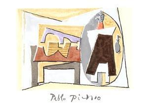 Nature Morte a la Guitare et Pulcinella by Pablo Picasso