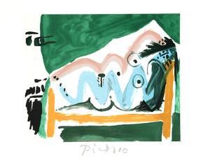 Ne Allongee et Tete D'Homme de Profil by Pablo Picasso