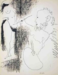 Painter and Model by Pablo Picasso