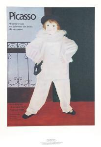 Paul en Pierrot by Pablo Picasso