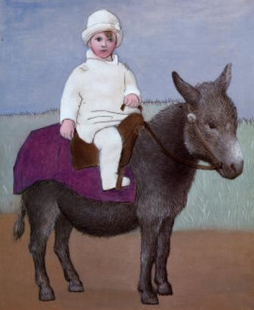 Paulo on a Donkey by Pablo Picasso