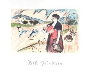 Paysanne et son Enfant by Pablo Picasso