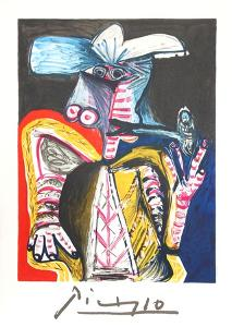 Personnage a la Pipe by Pablo Picasso