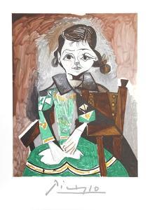 Petite Fille a la Robe Verte by Pablo Picasso
