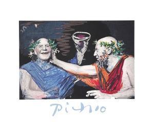 Photo Rehasse de Picasso et Manuel Pallar by Pablo Picasso