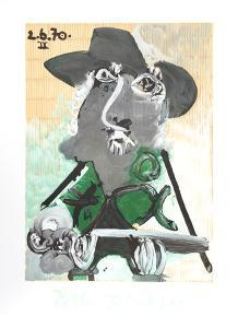 Portrait d'Homme Au Chapeau by Pablo Picasso