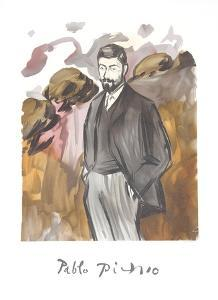 Portrait d'un Homme Debout avec Barbicne by Pablo Picasso