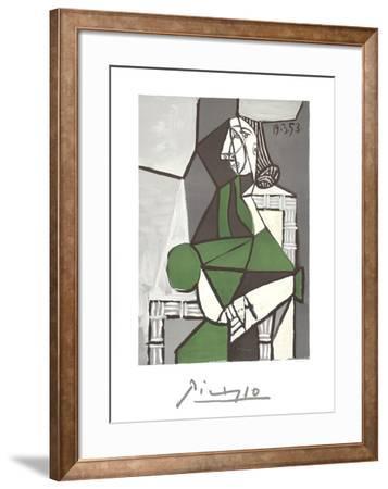 Portrait de Femme Assise, Robe Verte