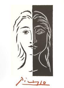 Portrait en Deux Parties Noire et Blanche by Pablo Picasso