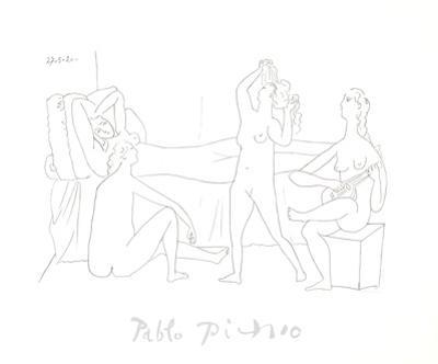Quatre nus au harem
