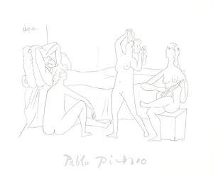 Quatre nus au harem by Pablo Picasso