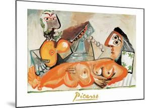 Reclining Nude and Musician by Pablo Picasso