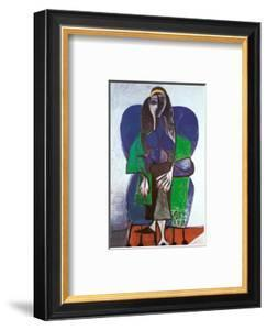 Sitting Woman with Green Scarf by Pablo Picasso