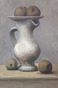 Still Life with Pitcher and Apple by Pablo Picasso