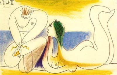Sur la Plage, 1961 by Pablo Picasso