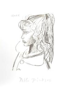 Sylvette De Profil Gouche by Pablo Picasso
