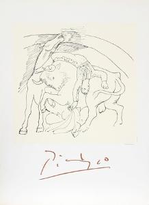 Taureau et Cheval by Pablo Picasso
