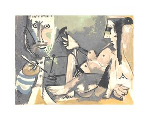 The Artist and His Model by Pablo Picasso