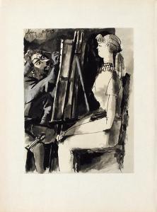 Verve - Femme et peintre II by Pablo Picasso