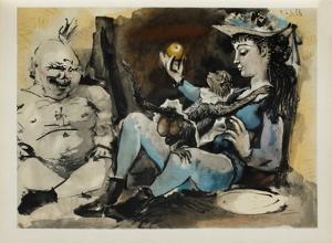 Verve - Le singe et la pomme by Pablo Picasso