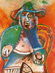 Vieil Homme Assis Mougins, c.1970 by Pablo Picasso