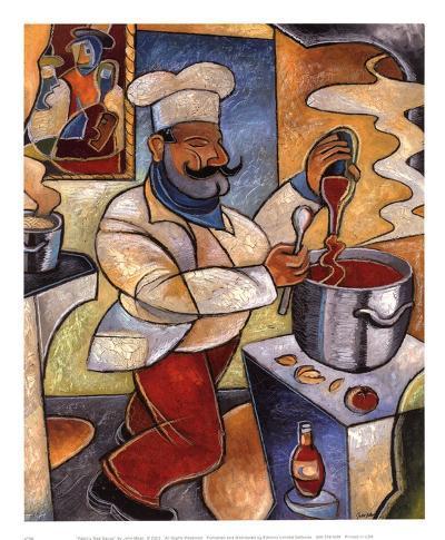 Pablo's Red Sauce-John Milan-Art Print