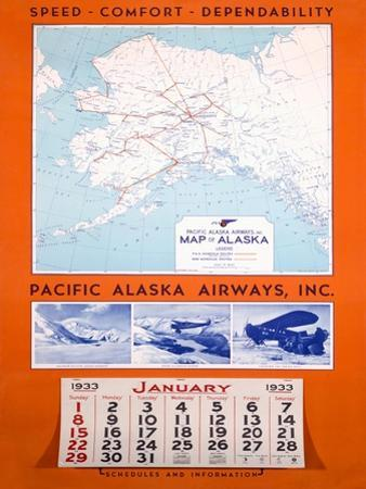 Pacific Alaska Airways Airline Poster