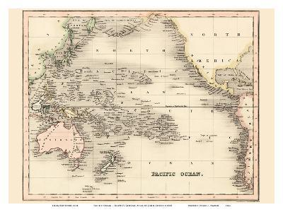 Pacific Ocean - Dower's General Atlas of the Earth-John Dower-Art Print