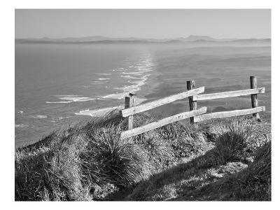 Pacific Ocean Seascape #51 B+W-Murray Bolesta-Art Print