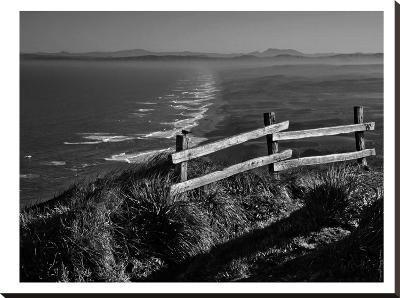 Pacific Ocean Seascape #51 B+W-Murray Bolesta-Stretched Canvas Print