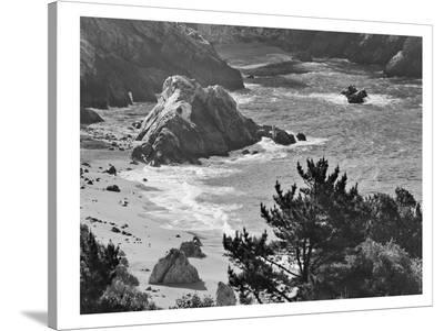 Pacific Ocean Seascape #52 B+W-Murray Bolesta-Stretched Canvas Print