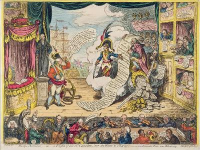 Pacific-Overtures, or a Flight from St. Clouds 'Over the Water to Charley' - a New Dramatic Peace…-James Gillray-Giclee Print