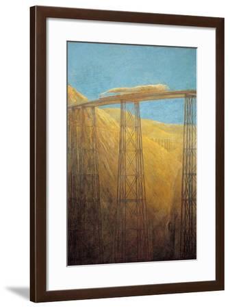 Pacific Railway-Gaetano Previati-Framed Art Print
