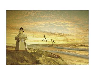 Pacific Sunset 6-Carlos Casamayor-Art Print